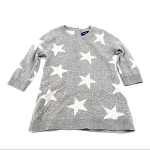 Baby GAP Gray Star Print Sweater Dress 3-6 Months